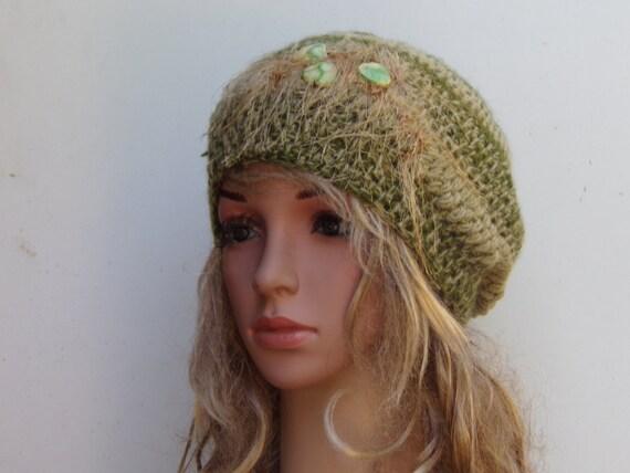 925a30684b7 Tams Women Hat Mohair   Wool Hand Knitted Hat Crochet
