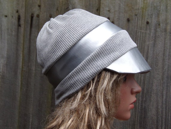a7eb1198d4e Newsboy Slouchy Hat With Visor  Cotton Beanie Hat  Hats for
