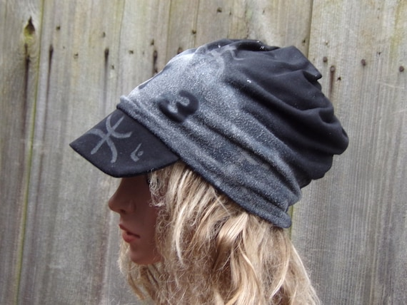 Newsboy Slouchy Hat With Visor Cotton Women Beanie Hat Mom  24936de1e77