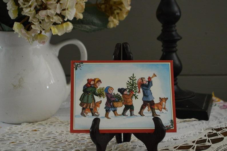 This a very cute Tasha Tudor Christmas card | Etsy
