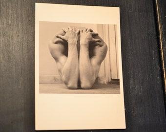 90s Joseph Caprio Postcard Gay Interest Photography B/&W Photo Blue Tint Hands Crotch Shot Man in Jeans Chambray Mesh Shirt Bulge Art Print