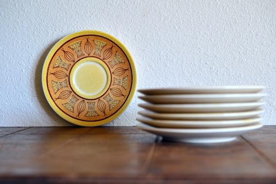 Taylor Smith Honey Gold Soup Bowls Set of 7
