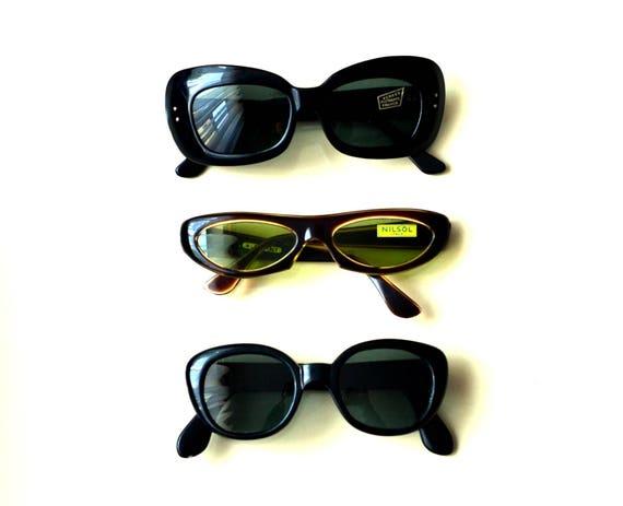 fae242d10a3 NOS 60s Mod Women s Cateye Sunglasses Fair Main French