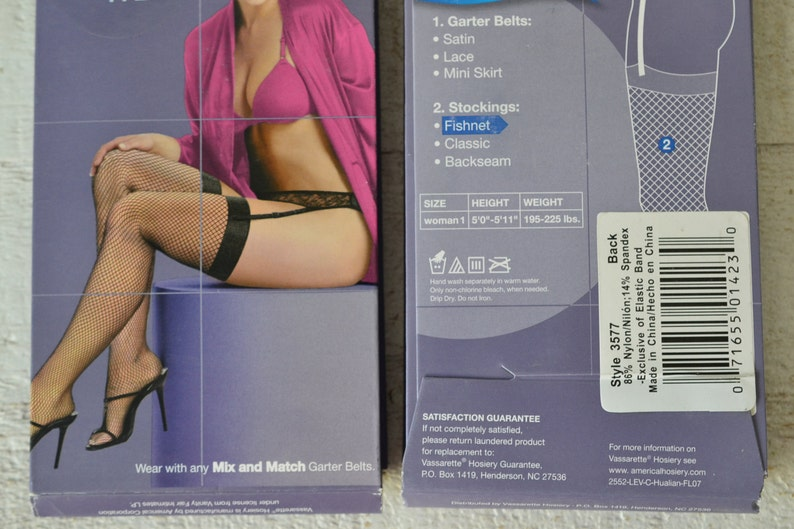 dccdf8e104f ONE Pr. Plus Size Fishnet Stocking 1X Black Fish Net Stockings