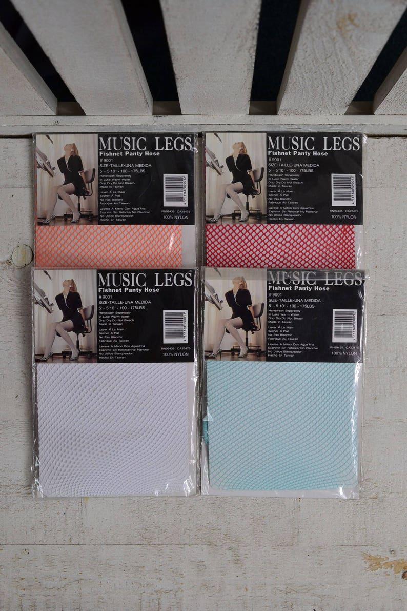 3c0d6a18de7b6 80s 90s Colored Fishnets Your Choice ONE 1 Pair Fishnet | Etsy