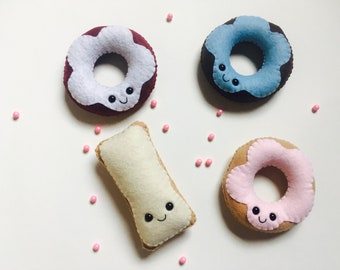 Happy Donut Plushies, Kawaii Donut Plush, Felt Donut, Birthday Donut Party Favor, Custom Donut Toy