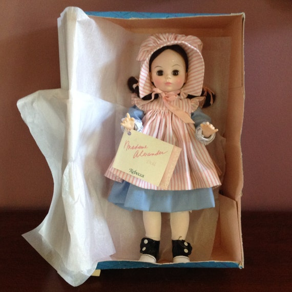 49a90a3fb34b8 Vintage 1980s Madame Alexander Rebecca of Sunnybrook Farm Doll No.1586