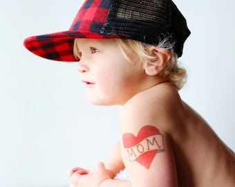 mother gift from son mom temporary tattoo for babies retro heart tattoo kids fake tattoo red heart tattoo for child baby photography prop