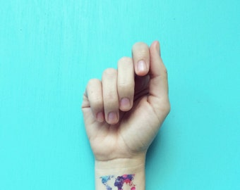 World map tattoo etsy world map temporary tattoos watercolor tattoo valentines day gift 3 festival tattoos wanderlust fake tattoos colorful tattoos for her gumiabroncs Images