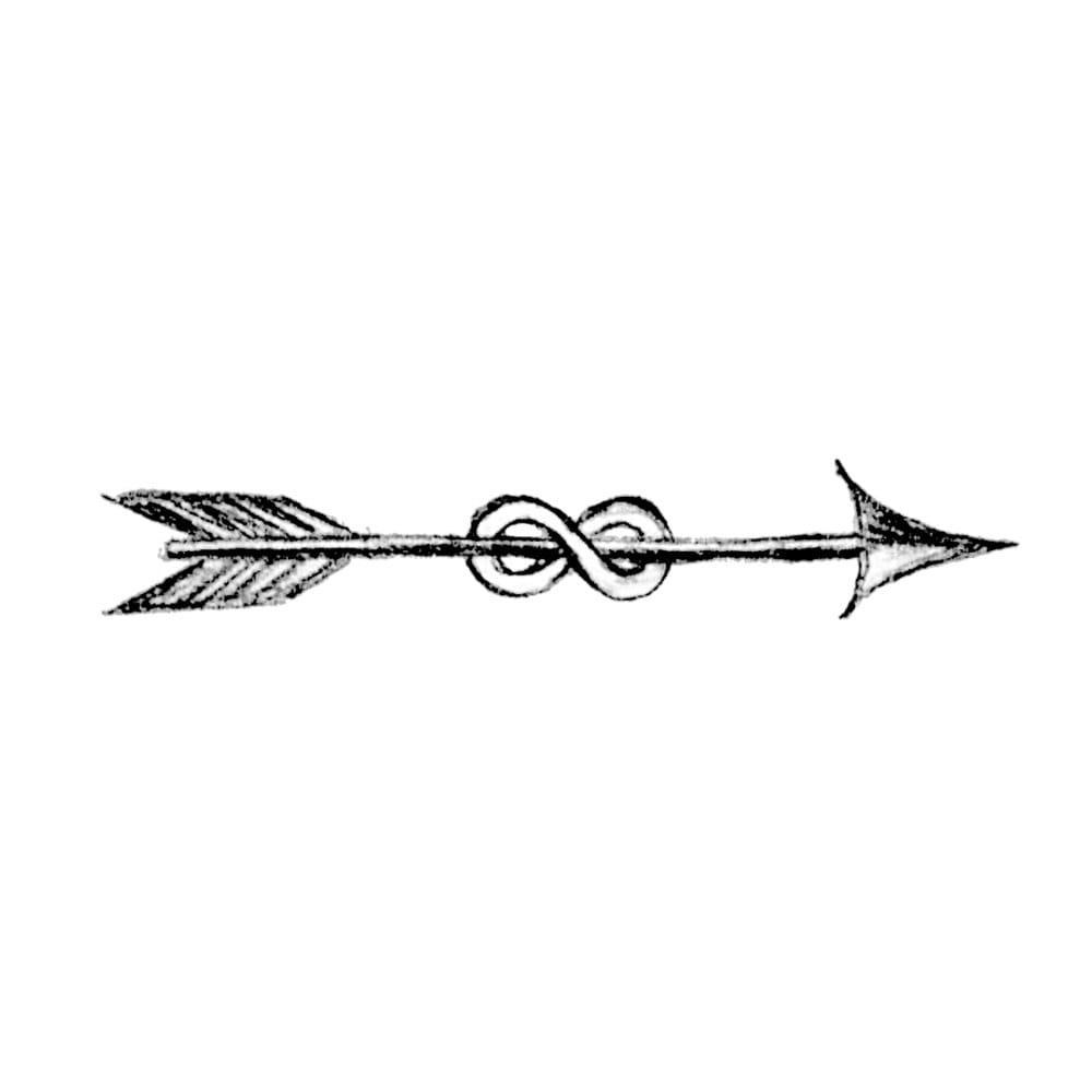 Temporary Tattoos Infinity Arrow Small