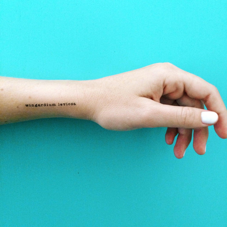 Wingardium Leviosa Tattoo Harry Potter Temporary Tattoo