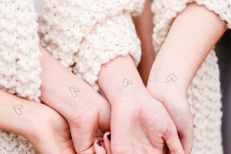 valentines day tattoos bridesmaid gift heart temporary tattoos | Etsy