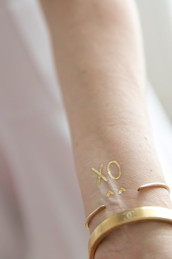 Mother S Day Gift For Her Xo X O Gold Tattoos Etsy Tattoos have grown in popularity over the past few decades and have gradually turned into one of the many. etsy
