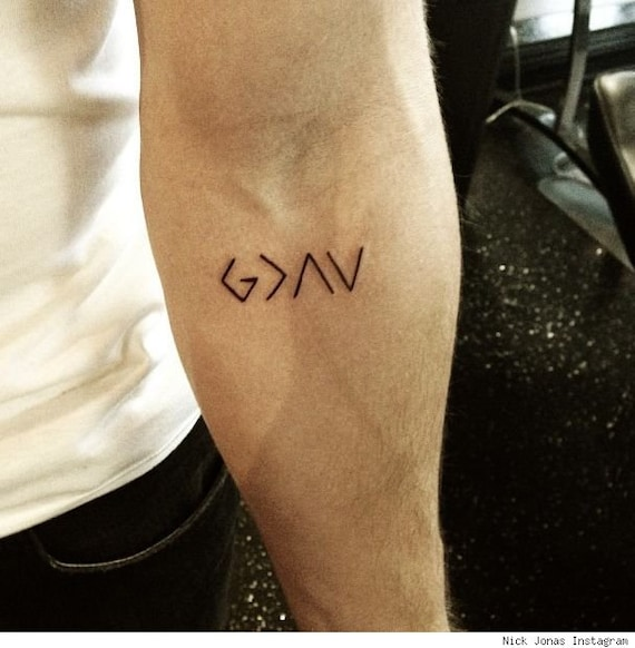 Religious Tattoo God Is Greater Than Highs And Lows Etsy