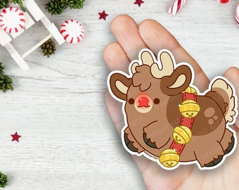 Kawaii Rudolph the Reindeer Vinyl Sticker