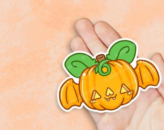 Kawaii Bat Jackolantern Pumpkin Sticker