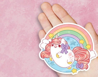 Kawaii Rainbow Unicorn Nugget Vinyl Sticker