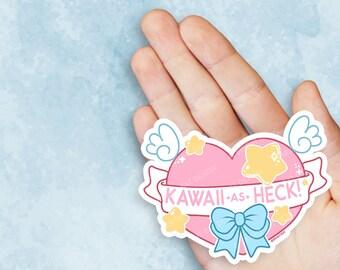 Kawaii As Heck Vinyl Sticker
