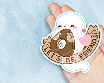 Kawaii Friendly Ghost Ouija Planchette Sticker