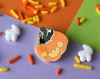 Mini Cat Butt Pumpkin Enamel Pin