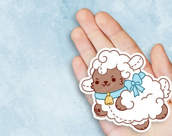 Kawaii Wolf in Sheeps Clothing Nugget Vinyl Sticker