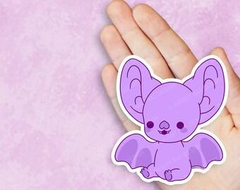 Kawaii Bright Bat Mascot Vinyl Sticker