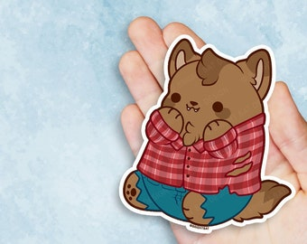Kawaii Werewolf Nugget Vinyl Sticker