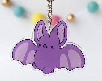 Kawaii Bat Nugget Acrylic Charm Keychain
