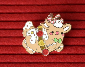 Gingerbread Rudolph the Reindeer Cookie Holiday Pin