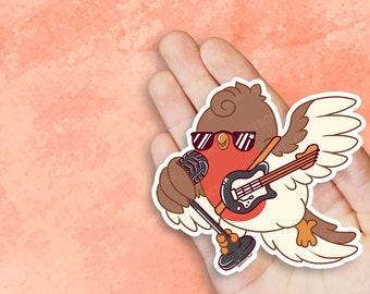 Kawaii Retro Rockin Robin Nugget Vinyl Sticker