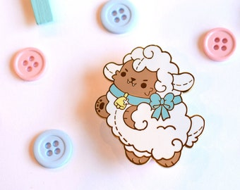 Kawaii Wolf in Sheeps Clothing Enamel Pin