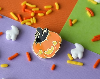 Mini Cat Butt Pumpkin Enamel Pin