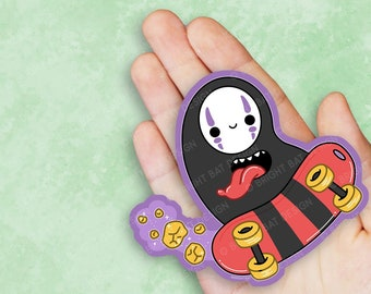 Kawaii No Face Kaonashi Skater Vinyl Sticker