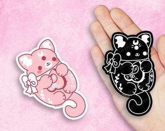 Kawaii Ouija Cat Vinyl Stickers