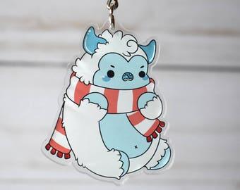 Kawaii Snow Yeti Nugget Acrylic Charm Keychain