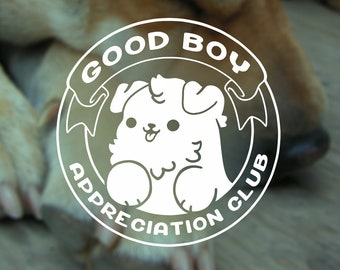 Kawaii Good Boy Appreciation Club Dog Vinyl Decal