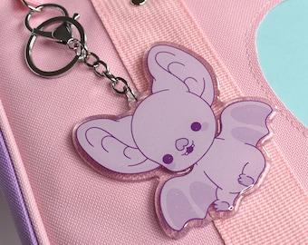 Kawaii Bright Bat Mascot Acrylic Charm Keychain