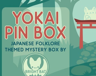 Kawaii Yokai July Pin Box - Mystery Stationery and Enamel Pin Box