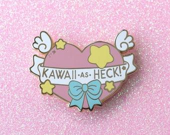 Kawaii as Heck Magical Heart Enamel Pin
