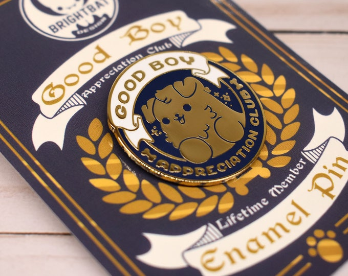 Featured listing image: Kawaii Good Boy Appreciation Club Dog Enamel Pin