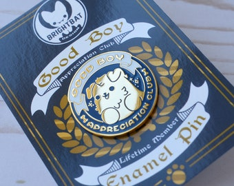 Kawaii Good Boy Appreciation Club Dog Enamel Pin