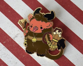 e393a84924351 Krampus Nugget - Naughty List Christmas Holiday Pin