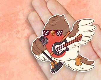Kawaii Retro Rockin Robin Nugget Sticker