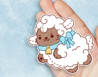 Kawaii Wolf in Sheeps Clothing Nugget Sticker
