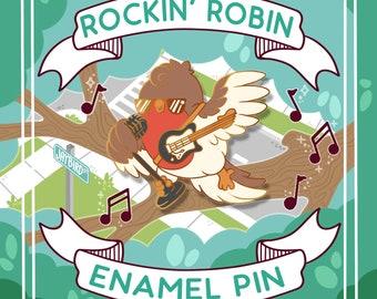 PREORDER!! ---- Kawaii Rockin Robin Enamel Pin