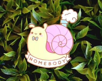 Homebody Snail Enamel Pin