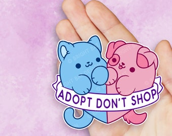 Kawaii Adopt Dont Shop Rescue Sticker