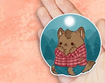 Kawaii Werewolf Nugget Sticker
