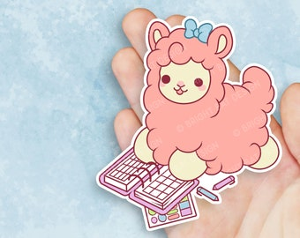 Kawaii Planning Alpaca Sticker
