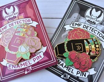 XL - EMF Detector Enamel Pins ( Pink & Black )